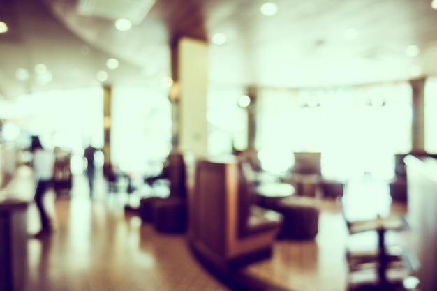 光沢のある窓付きファジィコーヒーショップ