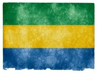 Gabon grunge flag  isolated