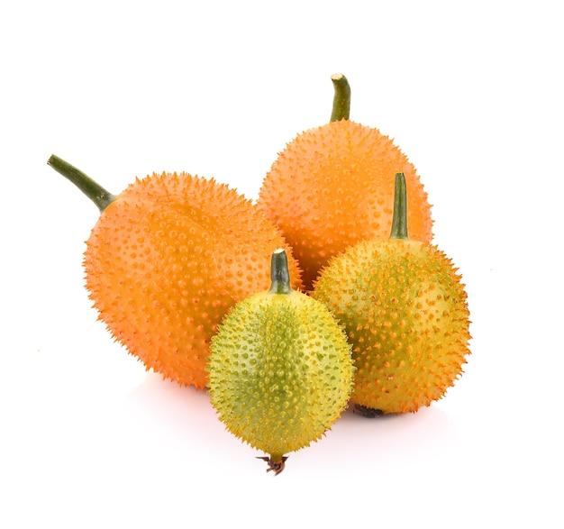 Gac fruit, baby jackfruit, spiny bitter gourd, sweet grourd 또는 cochinchin gourd