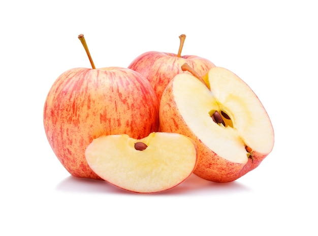 Гала яблоки изолировать на белом