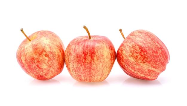 Gala apples on white background