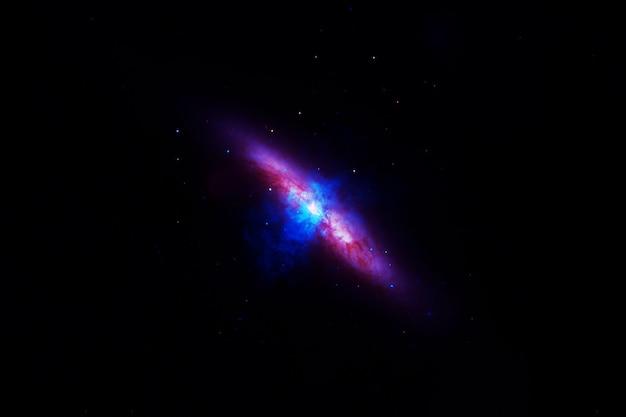 Фон галактики со звездами. элементы этого изображения были предоставлены наса. фото высокого качества
