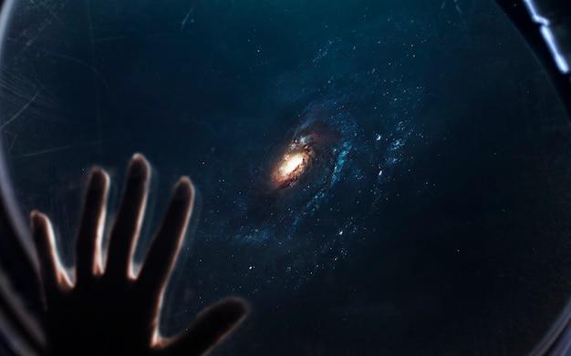 은하, 끝없는 깊은 공간이있는 아름다운 공상 과학 벽지. nasa에서 제공 한이 이미지의 요소