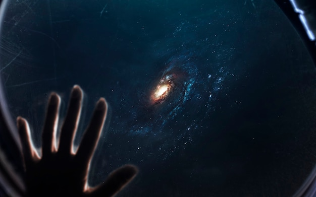 Galaxy, beautiful science fiction wallpaper with endless deep space. elements of this image furnished by nasa