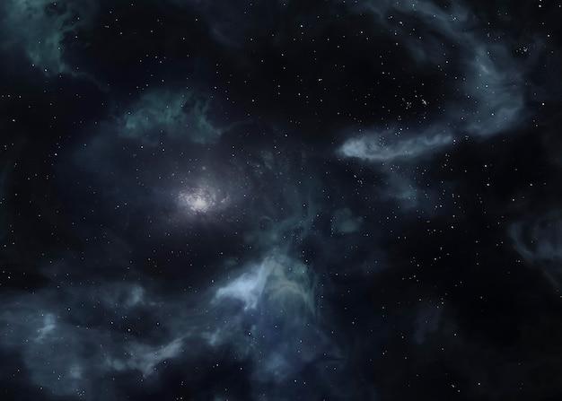 Галактический ночной пейзаж