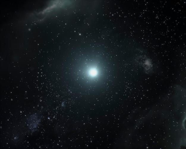 Galaxy night panorama