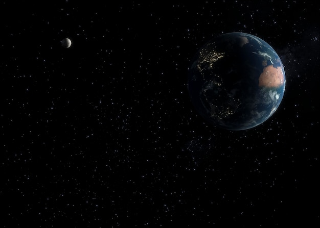 Panorama notturno della galassia