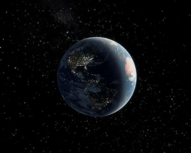 Ночная панорама галактики