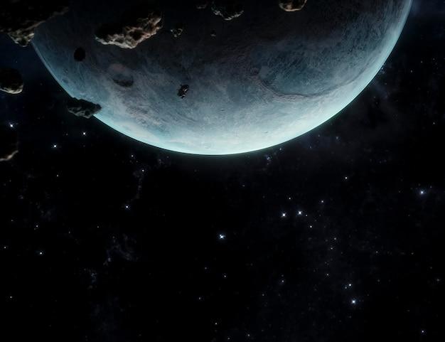 Galaxy night panoramic