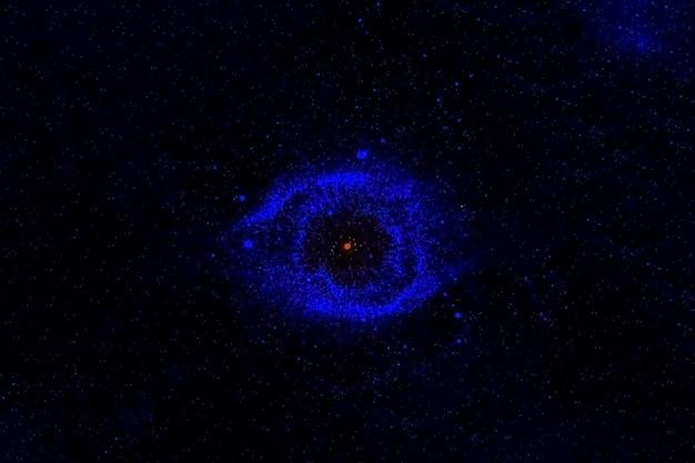 Галактика необычной формы. элементы этого изображения были предоставлены наса. фото высокого качества