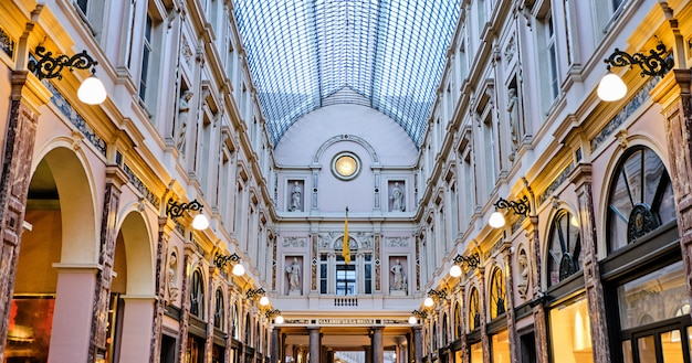 Galeries royales saint-hubert in brussels, belgium