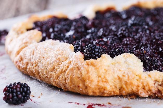 Galette with blackberries