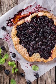 Galette with blackberries.