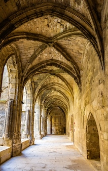 Gallery at the narbonne cathedral - france