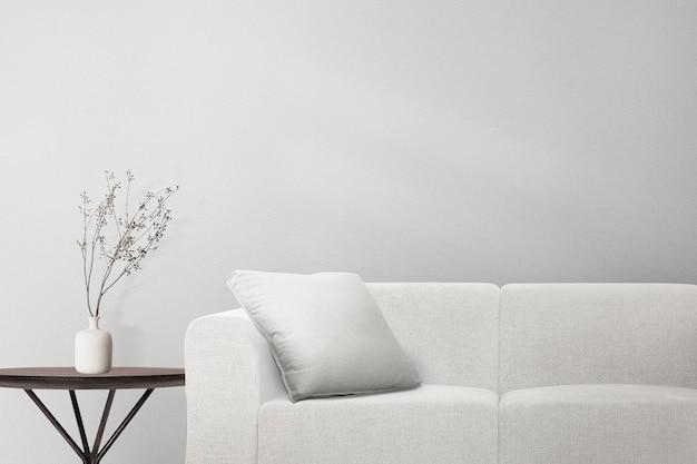 レトロな部屋の家の装飾interioにぶら下がっているギャラリーの壁のモックアップpsd