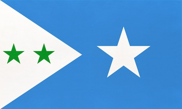 Galmudug national fabric flag, textile background. symbol of world african country.