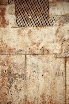 Galvanized metal texture with old peeling paint