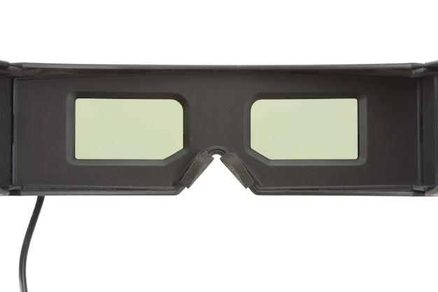 도박 3d 안경. 흰색 배경에 고립