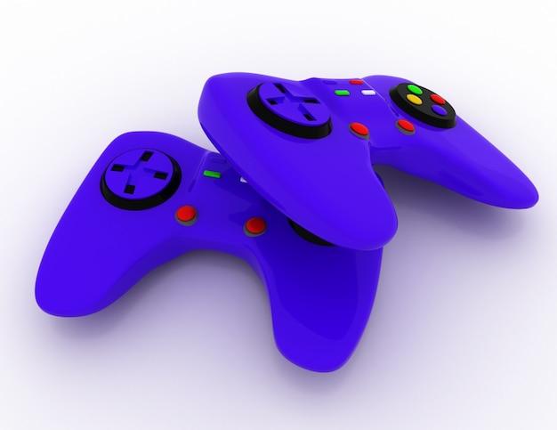 Концепция игровой консоли. 3d визуализированная иллюстрация
