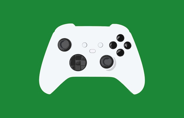 녹색 배경에 게임 컨트롤러 그림