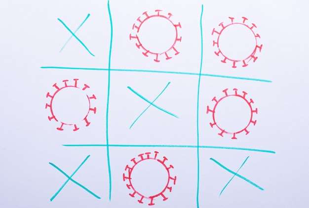 Игра крестики-нолики с коронавирусом