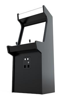 Игровой автомат с пустым экраном для вашего дизайна на белом фоне. 3d-рендеринг.
