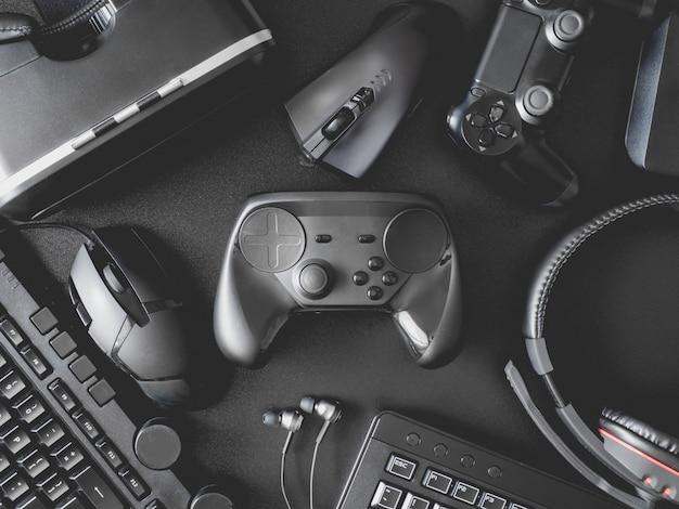 ゲーム機、マウス、キーボード、ジョイスティック、ヘッドセット、vrヘッドセット