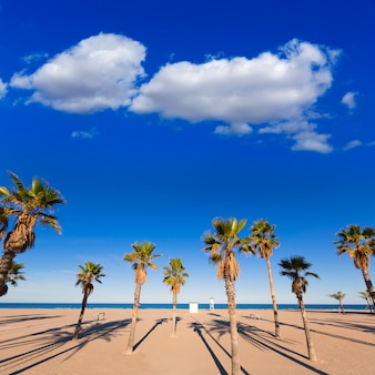 Gandia beach in valencia at mediterranean spain
