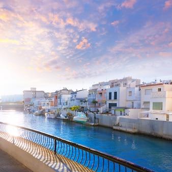 Gandia port valencia sunset mediterranean spain