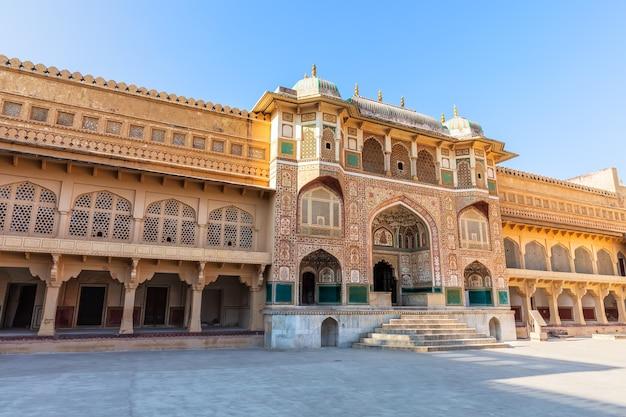 Ganesh pol entrance, amber fort in jaipur, india.
