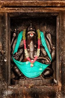 タンジョールのブリハディシュワラ寺院のガネーシャ像