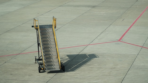 Gangway of plane at the airport