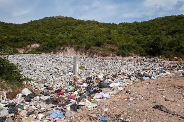 Garbage pond in koh larn island in pattaya,thailand in pattaya city