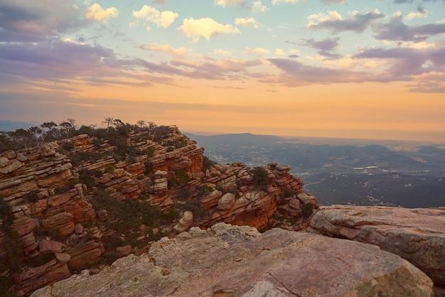 Garbi peak sunset at calderona sierra valencia