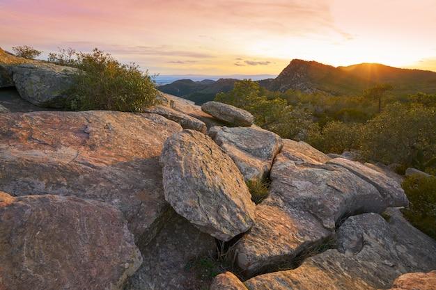 Garbi peak sunset at calderona sierra