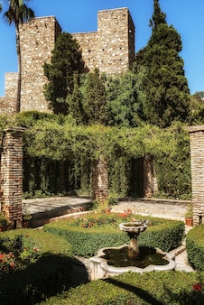 Garden in the alcazaba of malaga