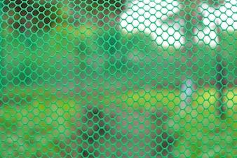 Garden green color grid fence