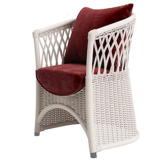 Садовое плетеное кресло из ротанга