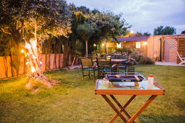 Garden ready for barbecue