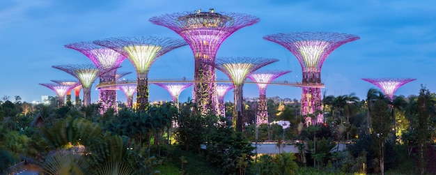 Gardens by the bay panorama