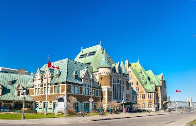 Gare du palais, the main train station of quebec city - canada