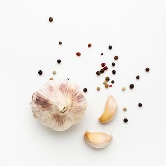ニンニクと黒胡椒の種