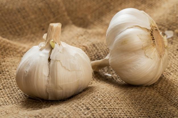 Garlic on blanket