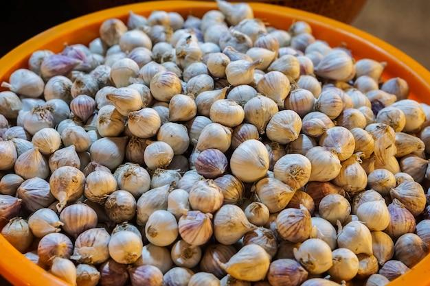 A garlic is a ingredient of thai food.