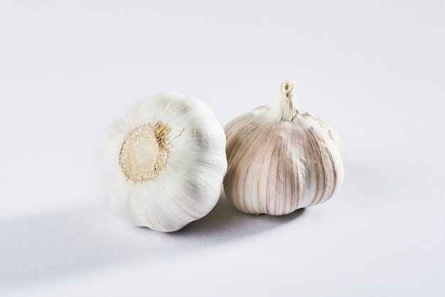 Garlic isolated on a white. delicious seasoning