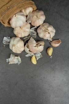 Garlic paste on black