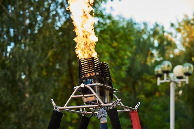 Gas burner of the balloon