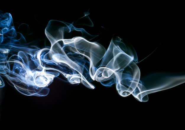 Gas smoke abstract on black background. fire design