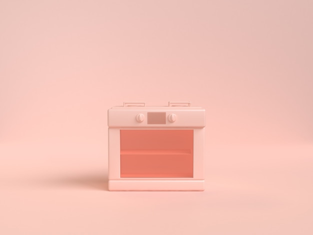 Gas stove abstract soft pink