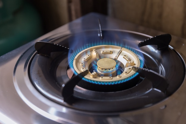 Gas stove with lpg for cooking